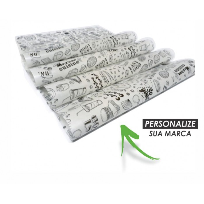 Papel Embrulho Greasepel WG308P - 10.000 unidades