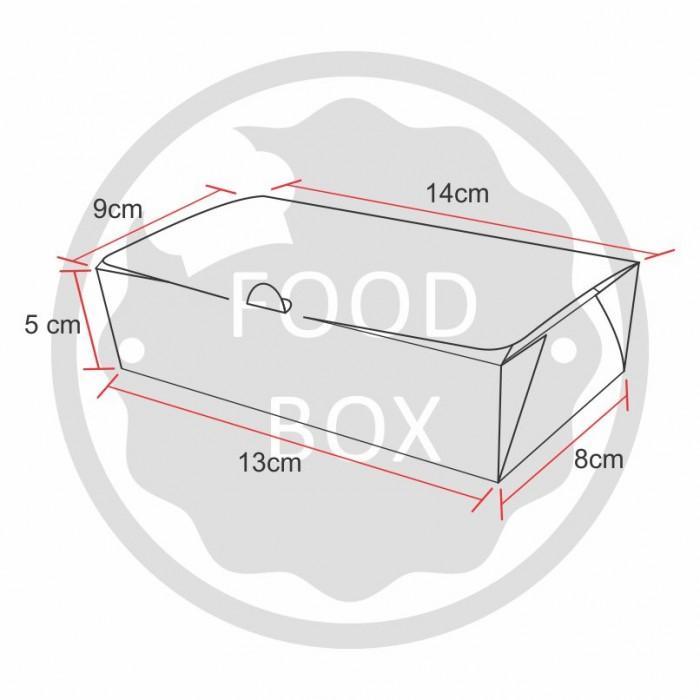 Embalagem Eco Box F174 Lisa - 600ml - 100 unidades