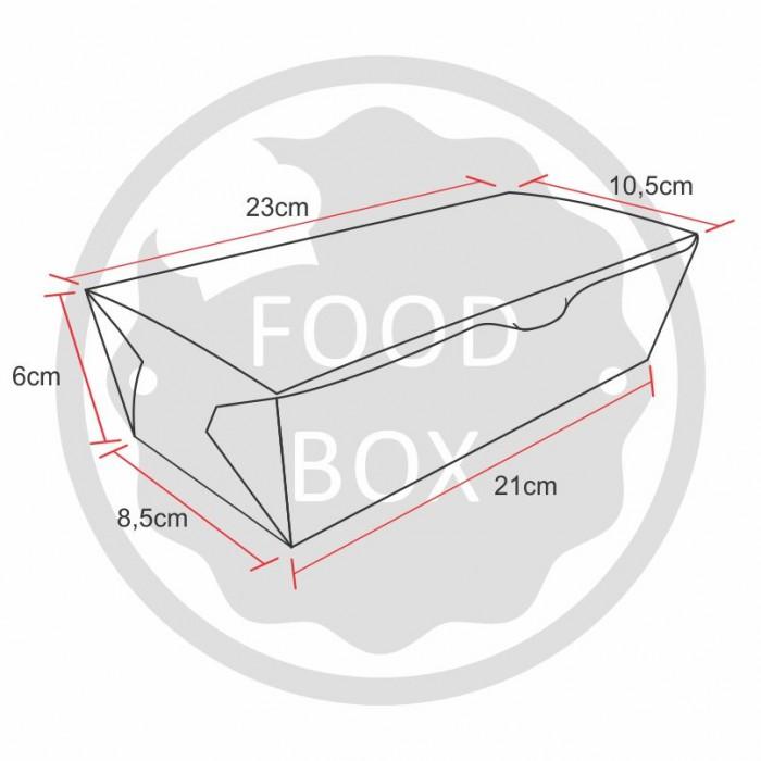 Embalagem Eco Box F252 – 1.200 ml - 100 unidades